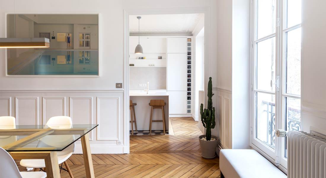 rnovation de la salle manger dun appartement haussmannien