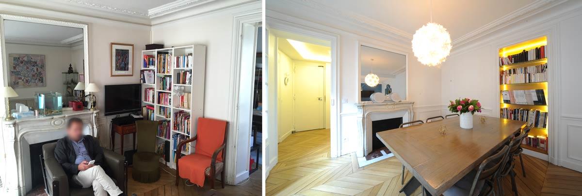 Rénovation d'une salle à manger par un architecte d'intérieur