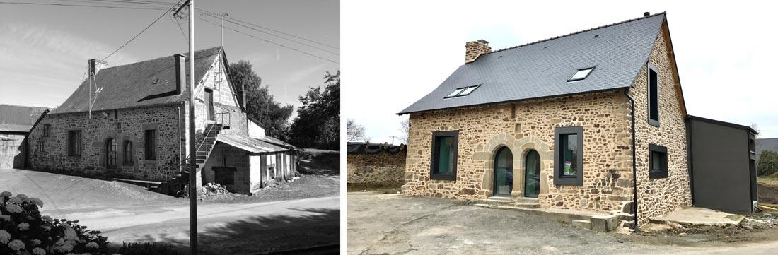 Restructuration d'une maison ancienne en photos avant - après