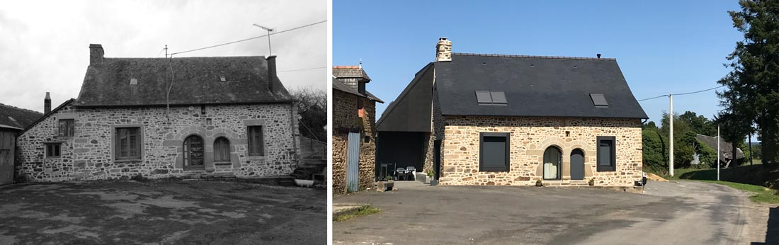 Restructuration d'une maison et ajout d'une extension réalisée par un architecte