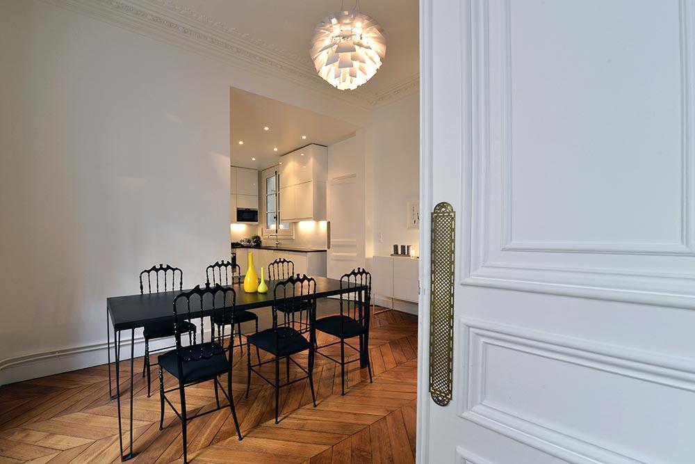 d coration d 39 int rieur appartement haussmannien 110m2. Black Bedroom Furniture Sets. Home Design Ideas
