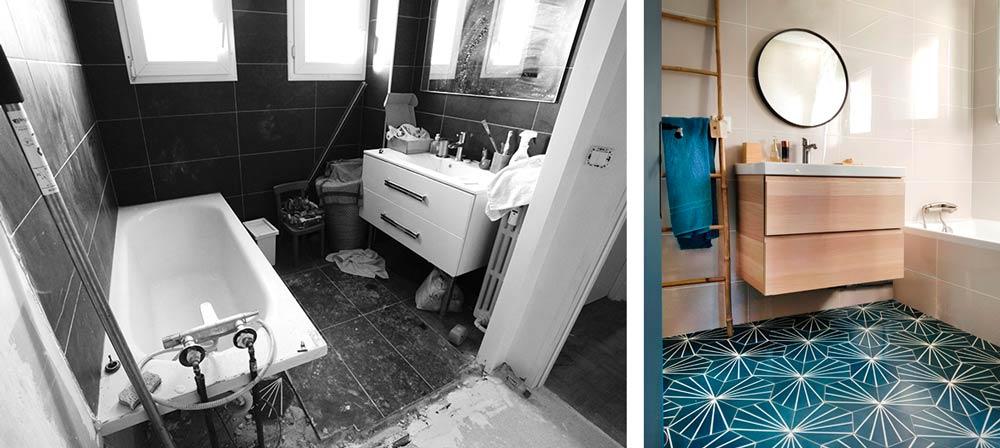 Salle de bain après les travaux de rénovation