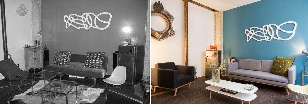 Décoration d'intérieur dans un loft à Paris