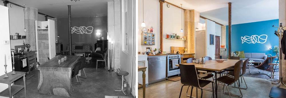 relooking d 39 un loft 62m2 paris. Black Bedroom Furniture Sets. Home Design Ideas