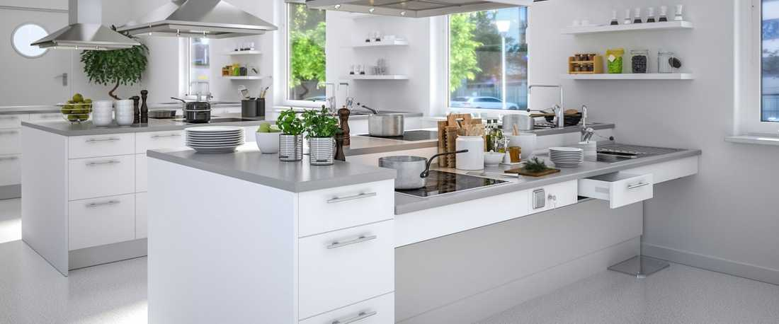 Kitchen created by an interior architect specialised in accessibility in Paris