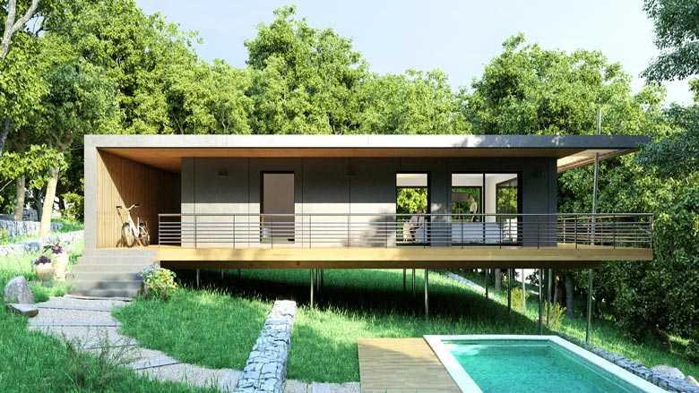 Maison Pop Up dans les arbres : une maison économique et écologique