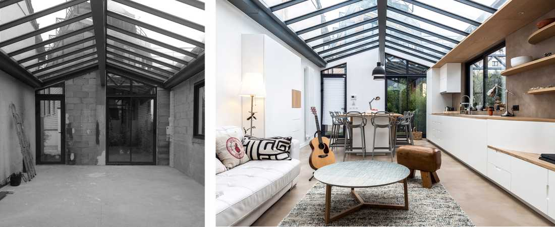 Before & After: Industrial loft 63m²