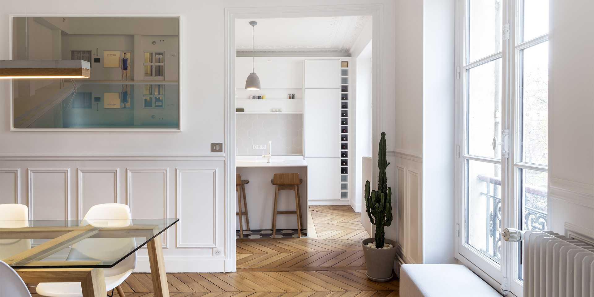 Haussmannian apartment redesigned by an architect in Paris