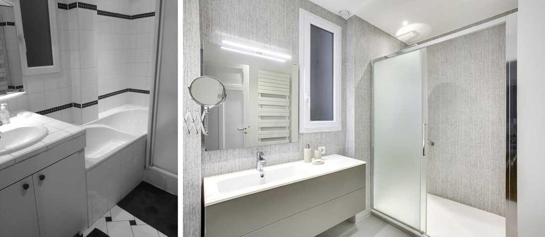 Before After Haussmannian Apartement Interior Design 76m
